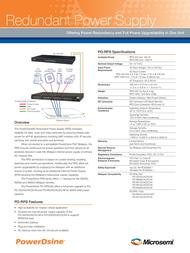 Microsemi PD-RPS-1000 Leaflet