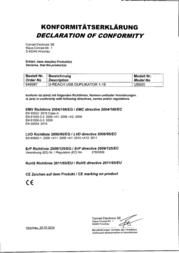U Reach USB DUPLIKATOR 1-19 UB920 Declaration Of Conformity