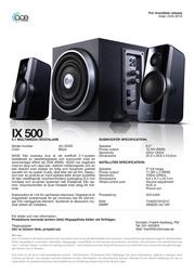 ACE IX500 AC-IX500 Leaflet