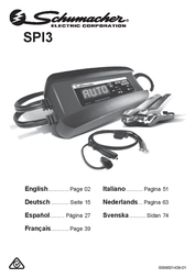 Schumacher Automatic charger SPI3 User Manual