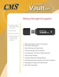 CMS Products CE-Secure Vault FIPS 16GB CE-VAULTFIPS-16G Leaflet