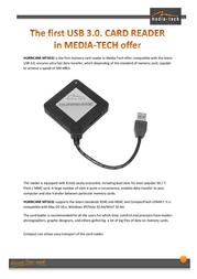 Mediatech Hurricane MT5031 Leaflet