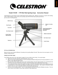 Celestron C70 Mini Mak Spotting Scope 821521 User Manual