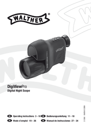 Walther Goggles Digi View Pro 2.1306 User Manual