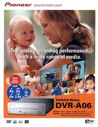 """Pioneer - DVD RW - internal - 5.25"""" - IDE DVR-A06 Leaflet"""