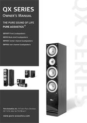 Pure Acoustics QX900C User Manual