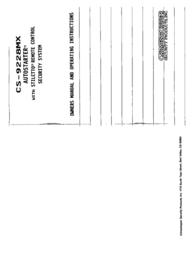 Crimestopper cs-9228mx User Guide