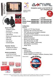 A-Rival NAV-PNF 43 NAV-PNF43-EU-TMC Leaflet