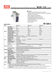 MEAN WELL DR-120-24 Data Sheet