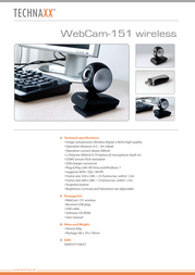 Technaxx WebCam 151 WEBCAM 151 Leaflet