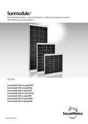 Solarworld Polycrystalline solar panel 145 Wp 18 V 310184 Data Sheet