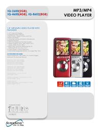 Supersonic IQ-2600 4GB IQ-4600BLACK Leaflet