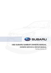 Subaru Automobile Parts 1965 Subaru Sambar Leaflet
