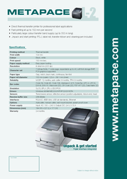 Metapace L-2 META-L2S Leaflet