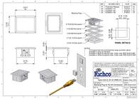 Richco BPE-RJ45-01BK Blind Hole Cover RJ45 RJ45 Black BPE-RJ45-01BK Data Sheet