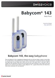 SwissVoice Babycom 143 20405424 Leaflet