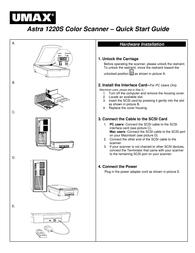 UMAX 1220 Quick Setup Guide