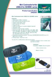 Datatech Mini USB 2.0 CardReader DRE0001 Leaflet
