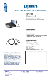 Safeware 44445 Leaflet