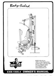 Body Solid Home Gym EXM-1500.4 User Manual