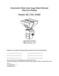 ACS Blender BD User Manual