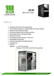 Compucase 6TJB 6TJBBS-UT Leaflet