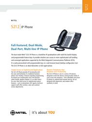 Mitel Networks 5212 IP Phone 50004890 User Manual