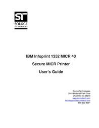 Source Technologies 1352 MICR 40 User Manual