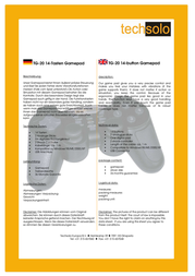 Techsolo TG-20 14-button Gamepad TG-20 Leaflet