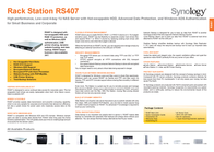 Synology RS407 1TB RS407_2050 Leaflet