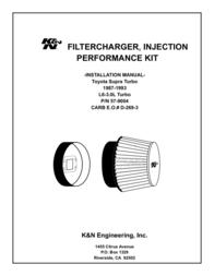 K&N Engineering 57-9004 User Manual
