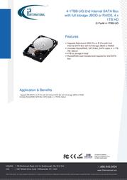 i3 International 4-1TBB-UG Data Sheet