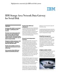 IBM Rack Mount Enclosure tbv 2108-S20 2108-2000 Leaflet
