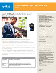 Socket Mobile CF RFID Reader Card 6E RF5400-542 Leaflet