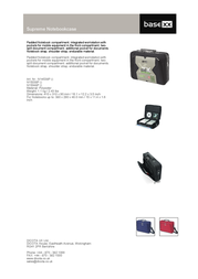 "basexx Supreme Notebookcase 15""/15.4"" N15038P Leaflet"