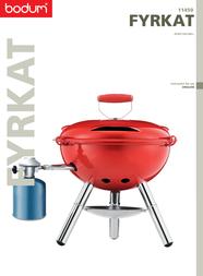 Bodum Gas Grill 11450 User Manual