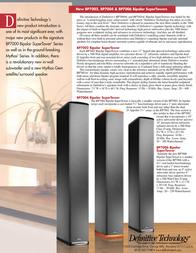 Definitive Technology SUPERTOWER BP7004 Leaflet