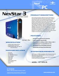 Vantec NexStar 3 NST-360SU-BL NST-360SU-BL Leaflet