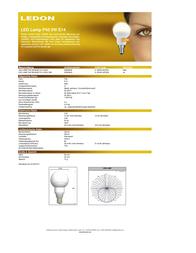 Ledon LED (monochrome) 230 V E14 5 W = 25 W Warm white ATT.CALC.EEK: A Teardrop shape Content 1 pc(s) 25000642 Data Sheet