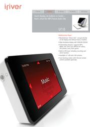 iRiver U10  FLASH MTP 1 GB 3U104X-EUWEX1 Leaflet