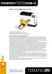 Terratec Cinergy 1200 DVB-C 10296 Leaflet