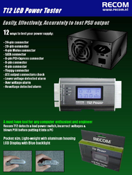 Recom T12 Power Tester RC-T12 Leaflet
