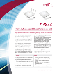 Meru AP832 AP832E User Manual