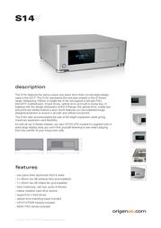 Originae S14V S14V/B Leaflet