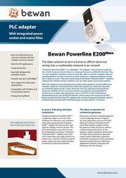 Bewan Powerline S200Maxx TRIO BWPLC-S200MAXXTRIO Leaflet