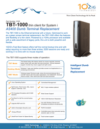 2-Power TBT-1000 5100 Dépliant