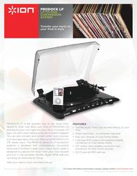 ION Audio IPROFILE Leaflet