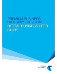 Telstra DEVG2020 User Manual