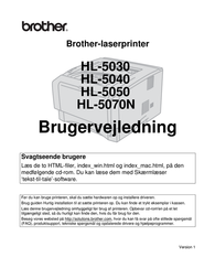 Brother HL-5040 User Manual