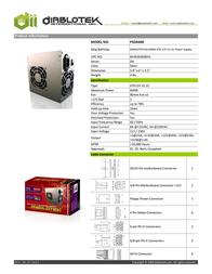Diablotek International PSDA600 Leaflet